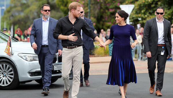 Princ Harry a vévodkyně ze Sussexu Megan - Sputnik Česká republika