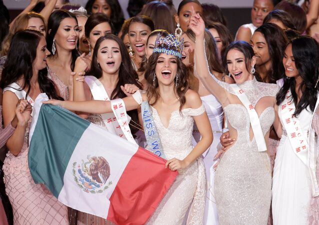 Vítězka soutěže krásy Miss World 2018 Vanessa Ponce de Leon