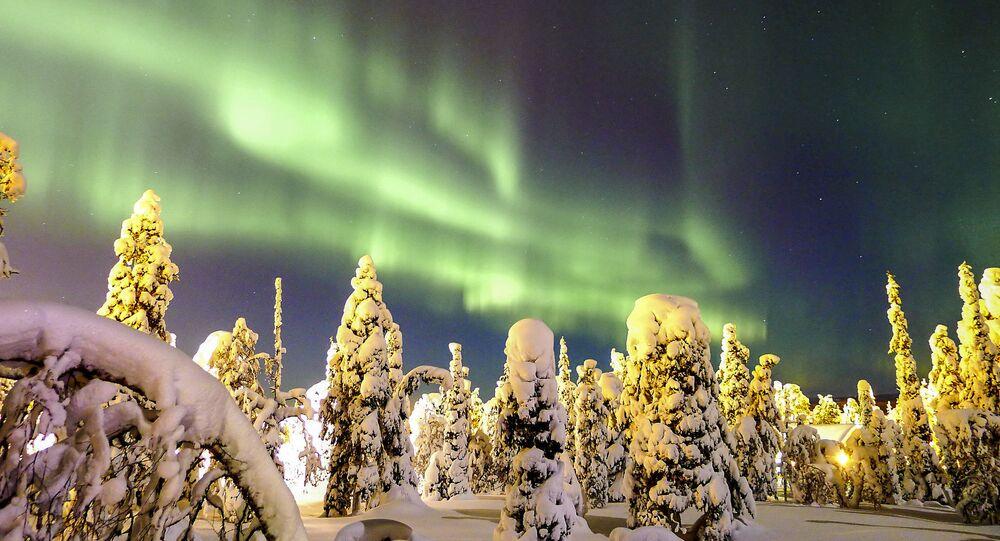 Polární záře v Finsku
