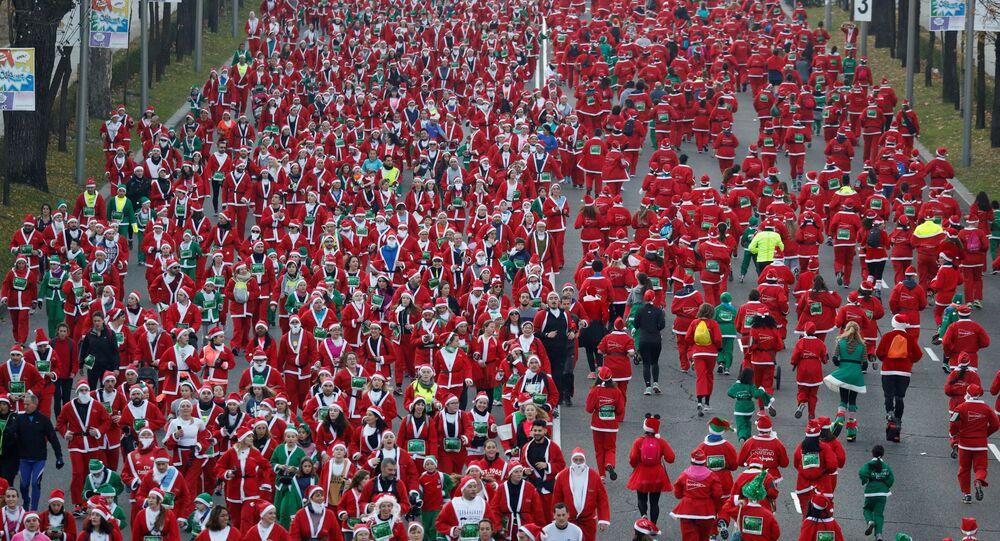 Běh Santa Klausů v Madridu