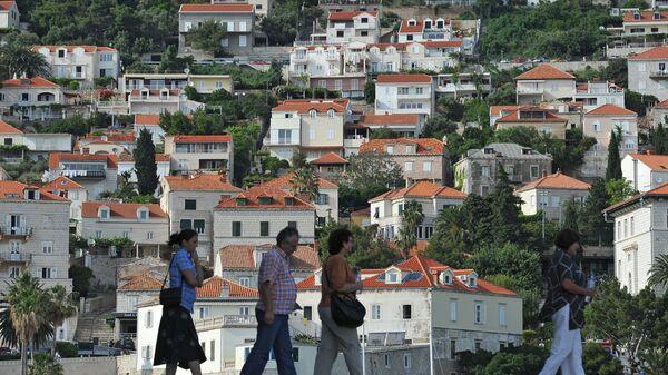 Turisté v chorvatském městě Dubrovník - Sputnik Česká republika