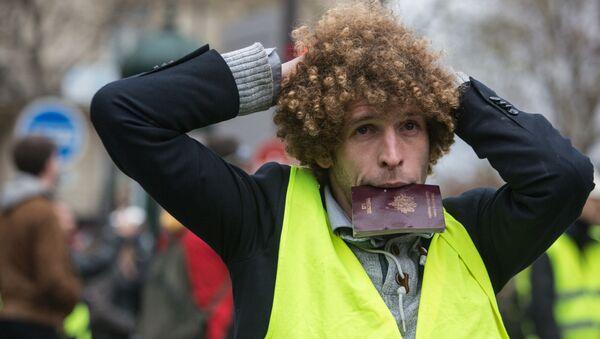 Akce žlutých vest v Paříži - Sputnik Česká republika