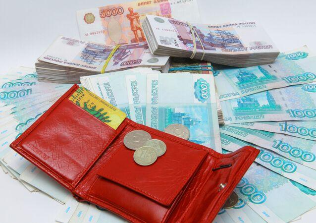 Velké množství rublů