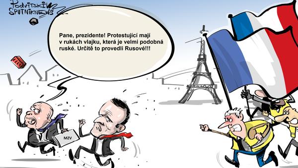 Ruští agenti ve žlutých vestách - Sputnik Česká republika