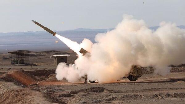 Zkouška íránských raket  pomocí systému Mersad - Sputnik Česká republika