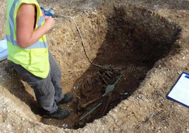Hrob nalezený britskými vědci