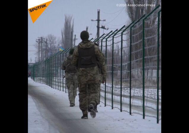 Ostnatý drát rozdělil  Rusko a Ukrajinu