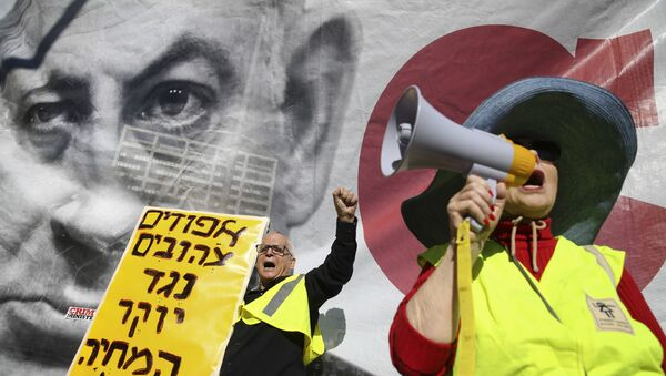 Protestní akce žlutých vest v Izraeli - Sputnik Česká republika