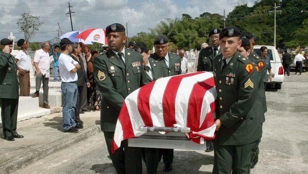 Pohřeb vojáka, který se narodil v Puerto Rico - Sputnik Česká republika