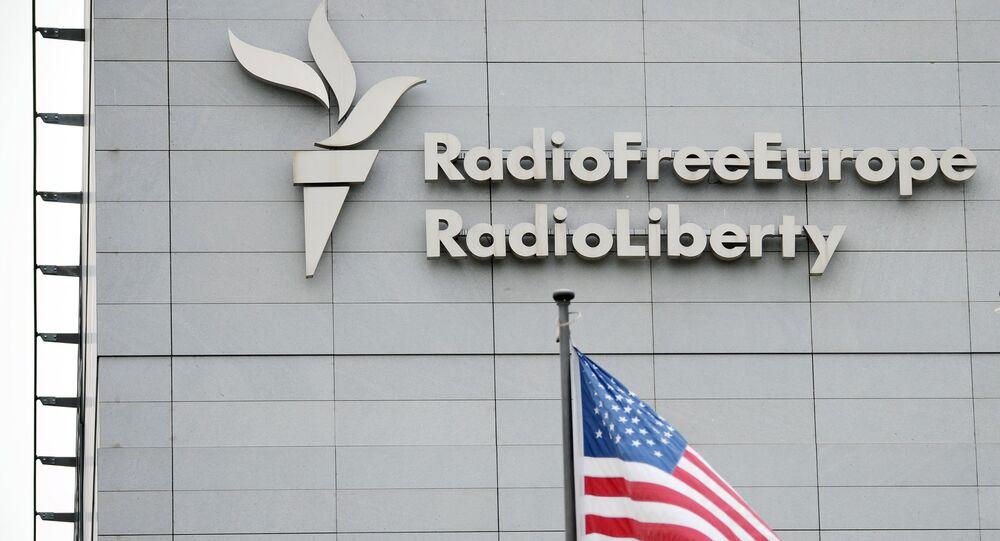 Budova stanice Rádio Svobodná Evropa/Rádio svobody v Praze