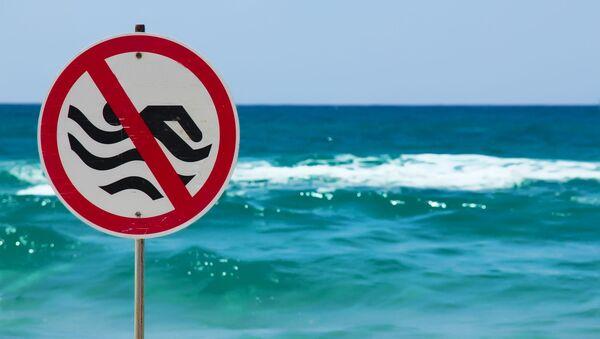 Znamení Zákaz plavání - Sputnik Česká republika