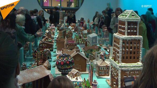 Vánoční pohádka. Ve Stockholmu proběhla soutěž zázvorových perníkových domečků - Sputnik Česká republika
