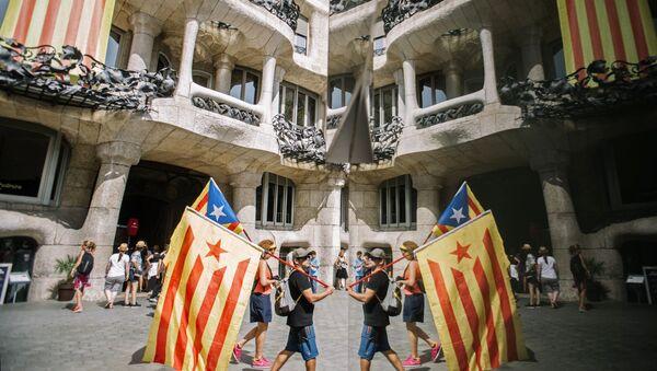 Účastníci akce v Barceloně - Sputnik Česká republika