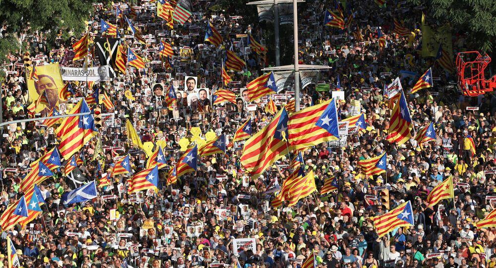 Protest v Katalánsku