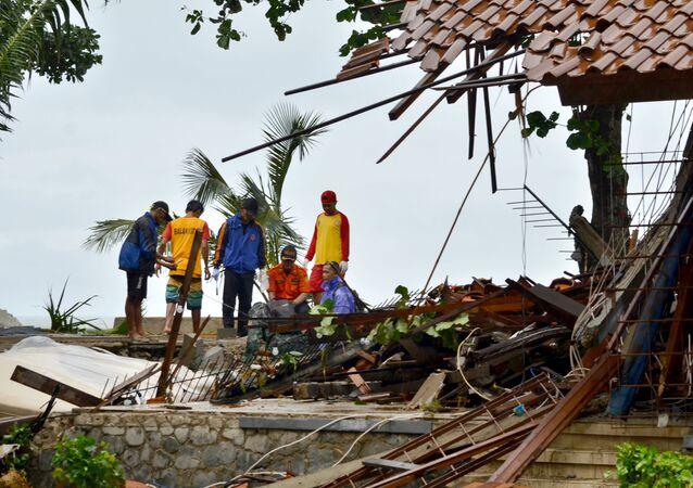 Následky tsunami v Indonésii