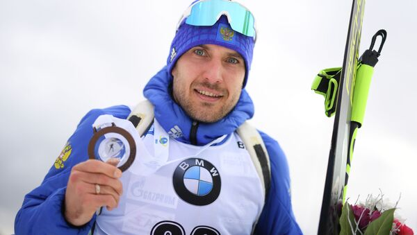 Ruský biatlonista Jevgenij Garaničev - Sputnik Česká republika