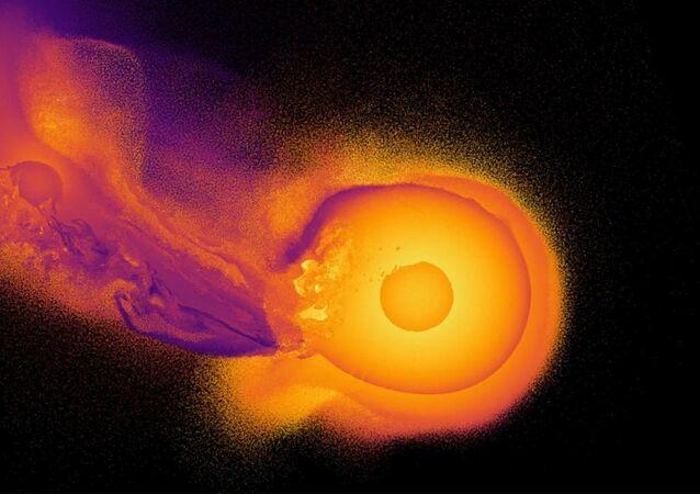 Takto podle vědců vypadala srážka Uranu s neznámou planetou
