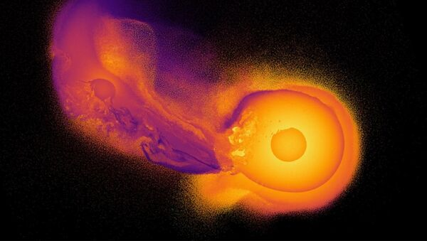Takto podle vědců vypadala srážka Uranu s neznámou planetou - Sputnik Česká republika