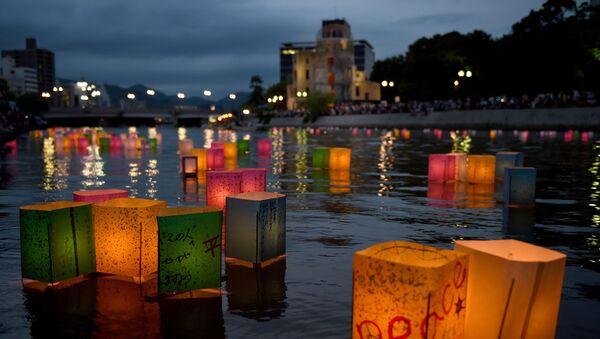 Japonsko si připomíná 70. výročí svržení jaderné bomby na Hirošimu - Sputnik Česká republika