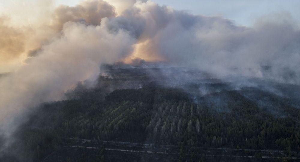 Požár v Černobylu