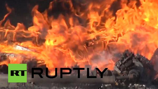 Ukrajina: dělostřelecké ostřelování a požár v elektrárně - Sputnik Česká republika