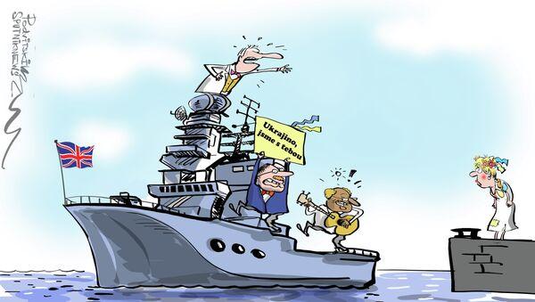 Britské námořnictvo podpořilo Ukrajinu: NI se ušklíbl - Sputnik Česká republika