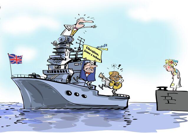 Britské námořnictvo podpořilo Ukrajinu: NI se ušklíbl