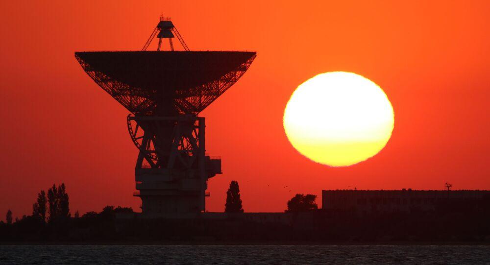 Radioteleskop P-2500 (PT-70) na území Centra vesmírného spojení v Rusku