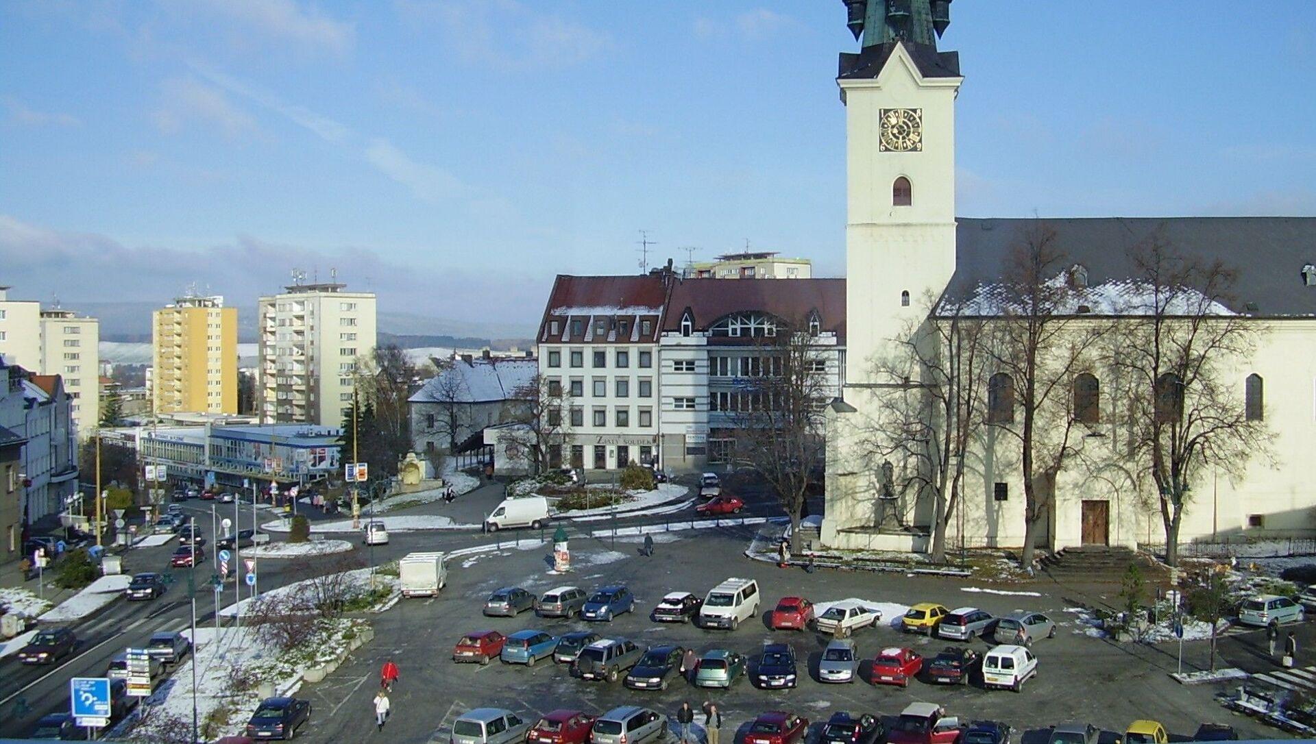 Pohled na náměstí T. G. Masaryka v Příbrami. Ilustrační foto - Sputnik Česká republika, 1920, 05.04.2021
