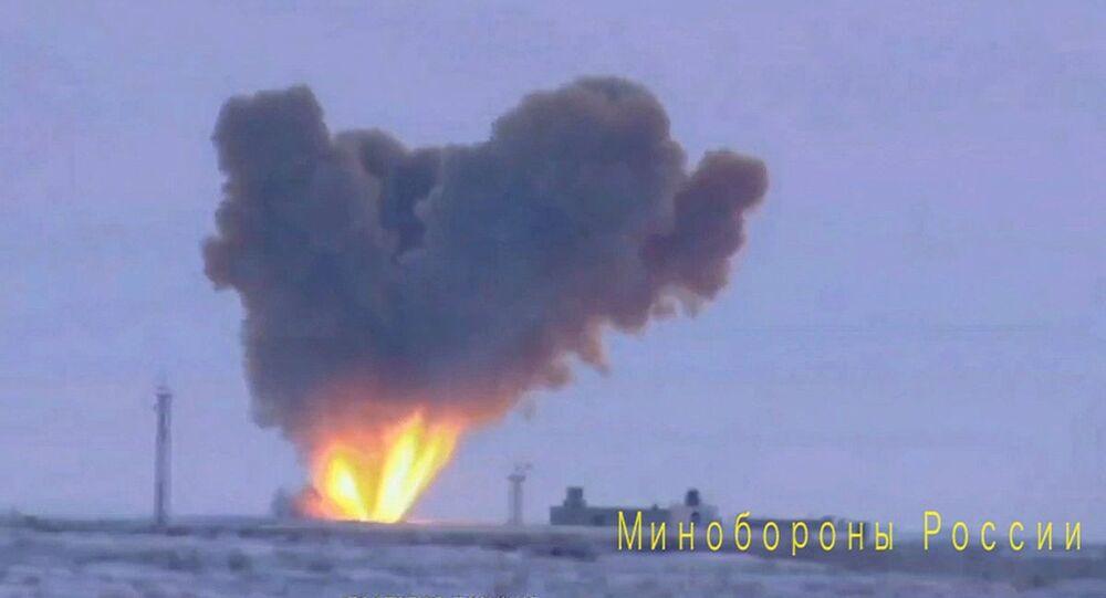 Zkouška rakety komplexu Avangard