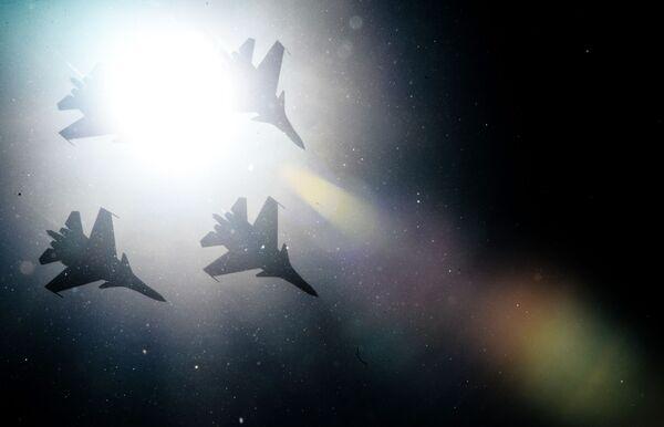 """Stíhačky Su-30SM skupiny """"Russkije Vitjazi"""". - Sputnik Česká republika"""