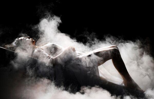 Zpěváčka Aysel Mamedová z Ázerbájdžánu na zkušce prvního semifinále 63. koncertu Eurovision Song Contest 2018 v Lisabonu - Sputnik Česká republika