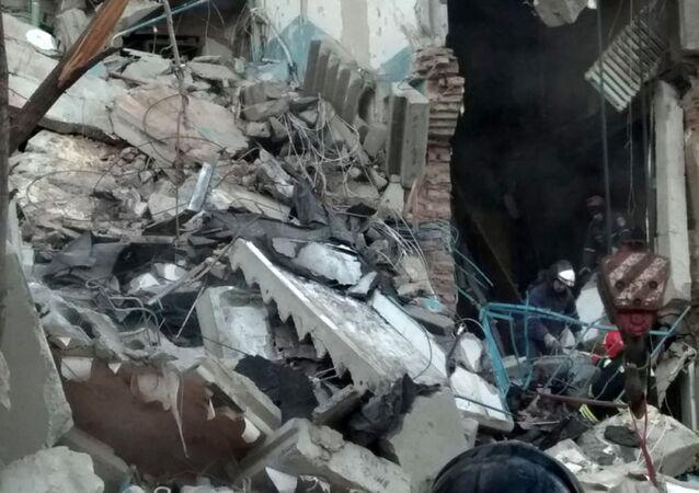 Místo výbuchu v Magnitogorsku