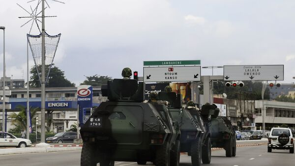 Military Armoured Vehicles in Libreville, Gabon, 2016 - Sputnik Česká republika