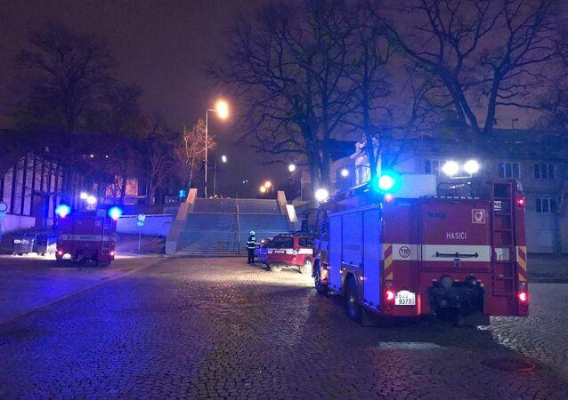 Na Výstavišti unikal plyn: Jedenáct hokejistů skončilo v nemocnici