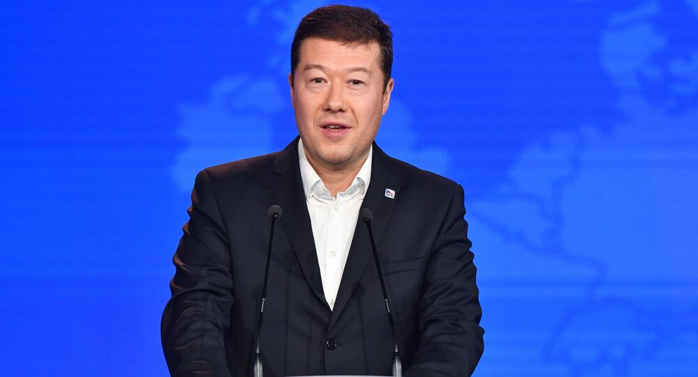 Předseda hnutí SPD, Tomio Okamura