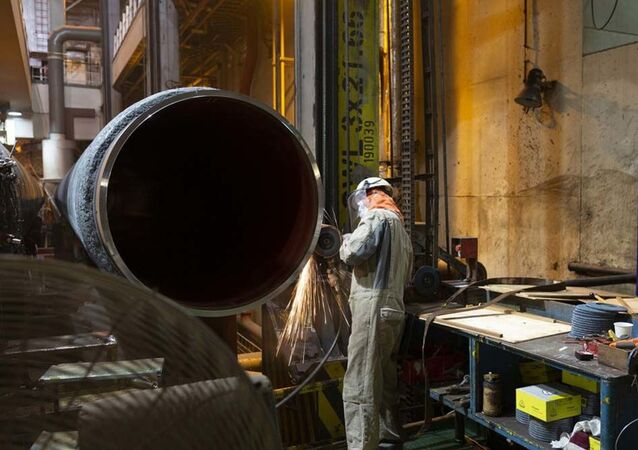 Svaření potrubí pro Nord Stream 2