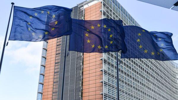 Vlajky Evropské unie v Bruselu - Sputnik Česká republika