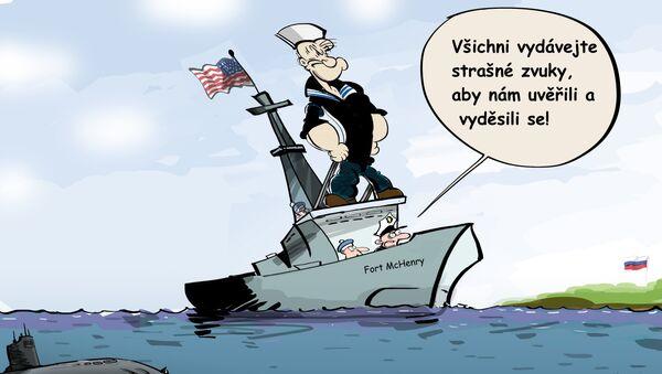 Americká lod v černém moři - Sputnik Česká republika