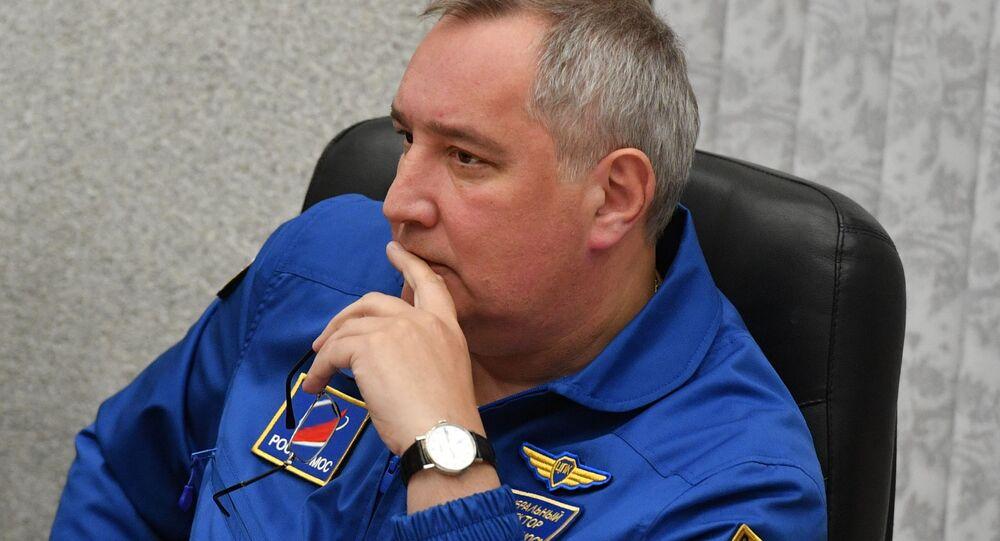 Ředitel Roskosmosu Dmitrij Rogozin