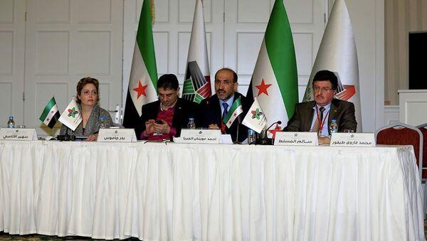 Lídři Národní koalice syrských opozičních sil - Sputnik Česká republika