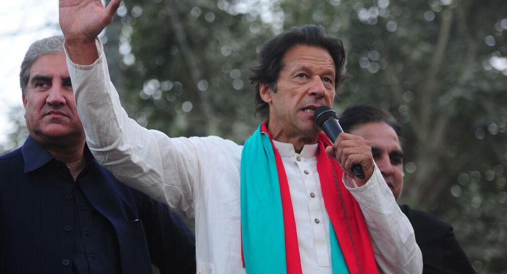 Pákistánský premiér Imran Chán.