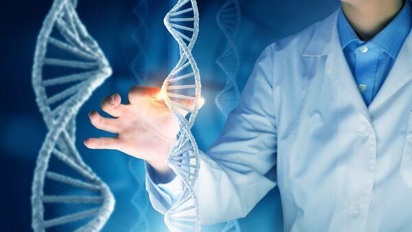 Vědec a molekuly DNK - Sputnik Česká republika