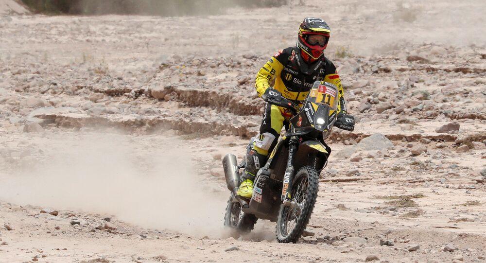Štefan Svitko ve 4. etapě Rallye Dakar 2019