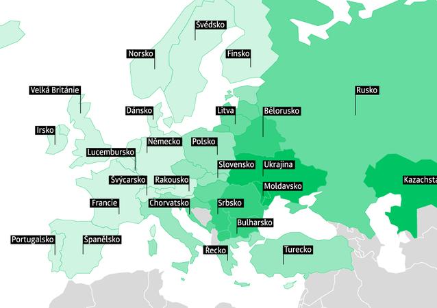 Hodnocení zemí Evropy podle nákladů rodin na potraviny - 2018