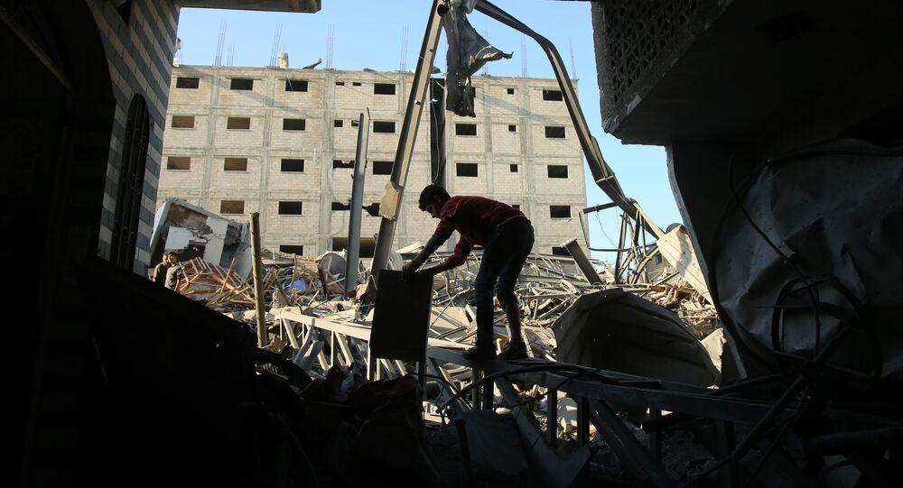 Následky izraelského útoku na Pásmo Gazy