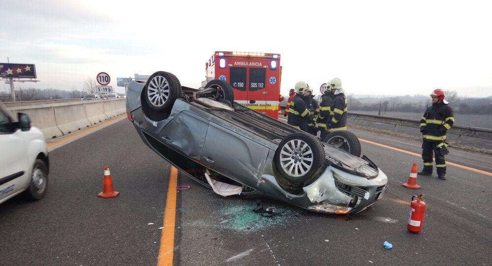Nehoda na dálnici D1 na Slovensku