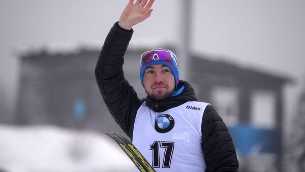 Alexandr Loginov po prvním vítězném závodě ve Světovém poháru. Oberhof - Sputnik Česká republika