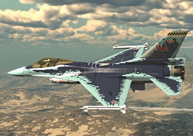 Americký stíhacích letoun čtvrté generace F-16C Fighting Falcon