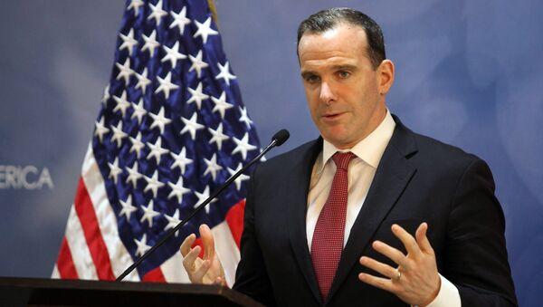 Bývalý americký velvyslanec pro mezinárodní koalici Brett McGurk - Sputnik Česká republika